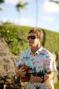 Oren Masserman Playing in Aloha Shirt